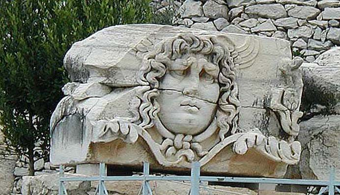 DIDYMA: This guardian Medusa looked more worried than frightening.