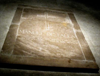 CADIZ: The great Spanish composer, Manuel de Falla (1876–1946), is buried in the crypt of the cathedral in Cadiz.