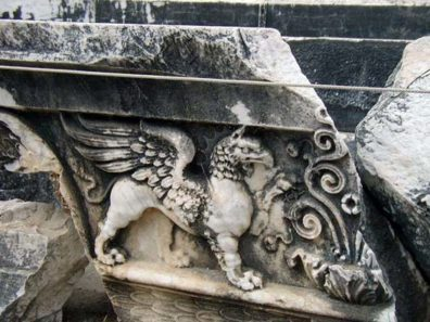 DIDYMA: This griffin is particularly spectacular.