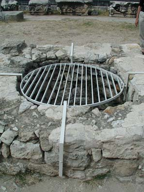 DIDYMA: The sacred well at the center of the site is not too attractive at present, but at least visitors won't fall in.