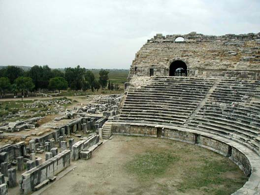 MILETUS: The stage area.