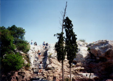 ATHENS: The steep climb to the Areopagos.