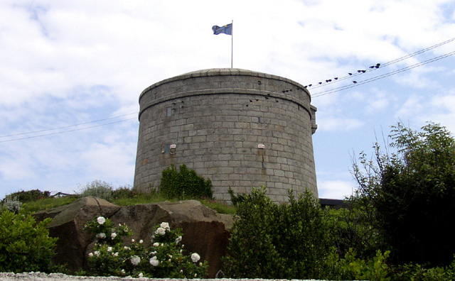 "SANDYCOVE: Just southwest of Dublin, on the Irish Sea, is the Martello Tower at Sandycove, one of several originally built to repel Napoleon's forces, and occupied by Joyce and John Gogarty in 1904. Gogarty figures as ""Stately, plump Buck Mulligan"" in the opening words of Ulysses, set in this tower. It now houses a Joyce museum. (Warning: it closes for lunch 1:00-2:00.)"