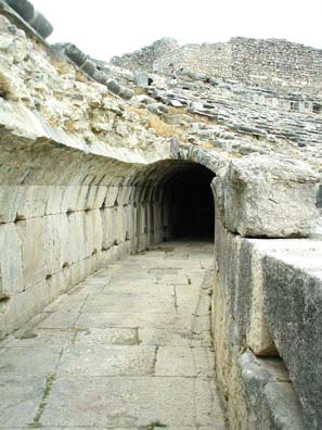 MILETUS: The vomitorium which spewed masses of departing spectators out of the seats at the end of shows.
