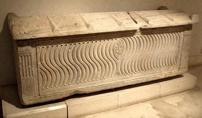 CADIZ: Roman sarcophagus. In the Museum of Fine Art and Archaeology, Cadiz.