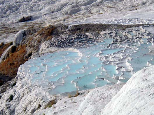PAMUKKALE: The most famous feature of the site are these natural pools, filled with hauntingly pale blue water.