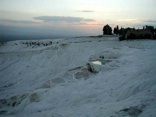 PAMUKKALE: People take special hikes at sunset to catch the eerie glowing of the cliffs in the dusk.