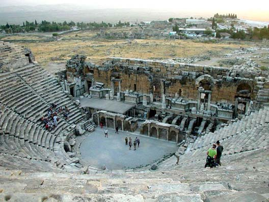 HIEROPOLIS: The scaena of this theater is particularly well preserved.