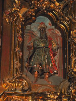 ARCOS DE LA FRONTERA: Detail from the Chapel of the Rosary (1784), Santa Mar'a de la Asunci—n, Arcos de la Frontera.