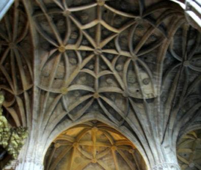 ARCOS DE LA FRONTERA: Detail of the ceiling.