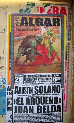 ARCOS DE LA FRONTERA: Bullfight poster.