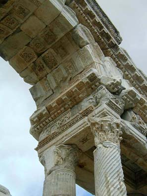 AFRODISIAS: Details of the gate.