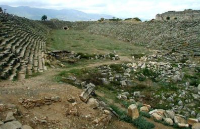 AFRODISIAS: This enormous stadium could hold some 30,000 spectators watching athletic events in the Greek era, gladitorial combats in the Roman era.
