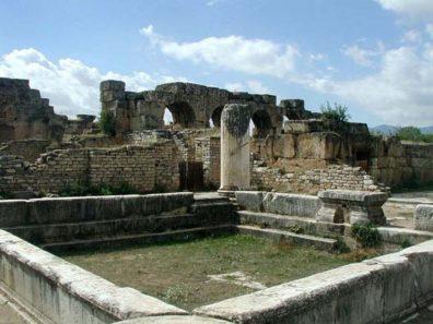 AFRODISIAS: Part of the Baths of Hadrian.