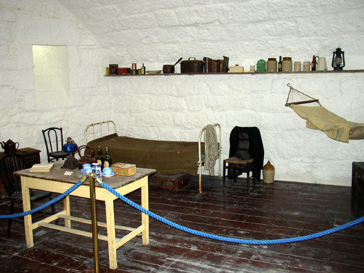 SANDYCOVE: Inside the tower is displayed a rich variety of manuscripts, early editions, and other Joyce memorabilia, and up a flight of stairs is the bedroom the author slept in.