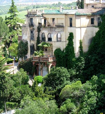 RONDA: Villa hanging off a cliff.