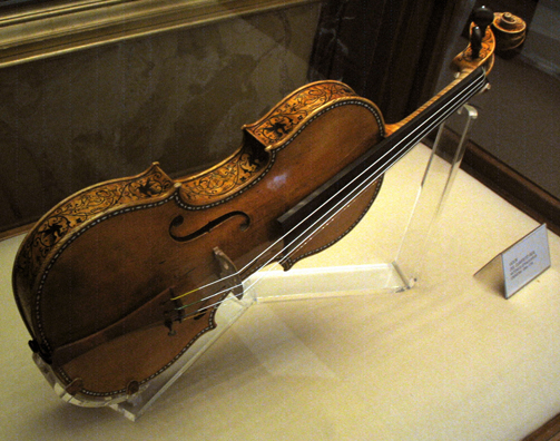 MADRID: The music room contains a fabulous collection of instruments, including a Stradivarius string quartet . . .