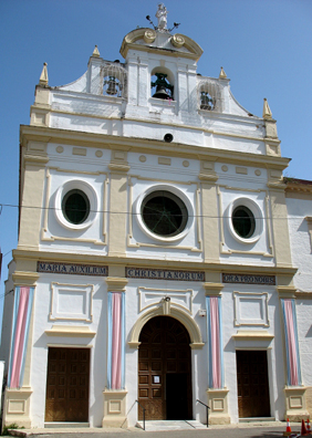 """RONDA: The inscription over the door reads """"Maria Auxilium Christianorum Ora Pro Nobis."""" (Mary the Helper of Christians, Pray for Us."""""""