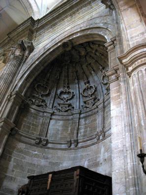 RONDA: Arch inside Santa María la Mayor.