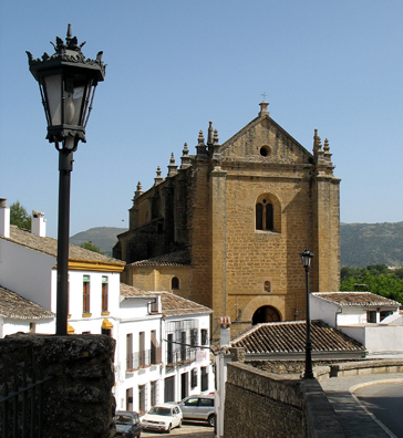 RONDA: Iglesia de Espiritu Santo, constructed on the site of an old mosque in the reign of Ferdinand and Isabella in the late 15th and early 16th centuries.