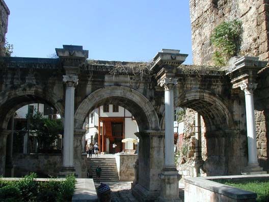ANTALYA: We took a taxi from the distant otogar to our destination, the charming old part of Antalya called Kaleici. The driver could barely squeeze his way through the narrow streets as he searched out our destination. On foot, we could approach our hotel through the Roman Hadrian's Gate.