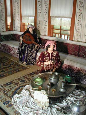 ANTALYA: The Kaleichi Museum just down the street has among other exhibits these displays depicting the traditional Ottoman coffee ceremony in the women's quarters of a well-to-do home