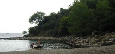 PHASELIS: Part of the planned tour was a visit to the ruins of ancient Phaselis, founded in the fourth century BCE as a port for shipping timber, rose oil, and perfume. Here's the ancient harbor.