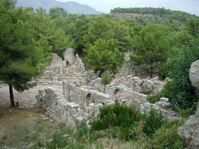 PHASELIS: No Roman city was complete without public baths.