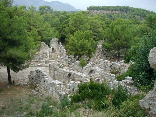PHASELIS: No Roman city was complete without public baths.
