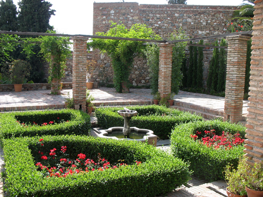 MALAGE: One of several small gardens.