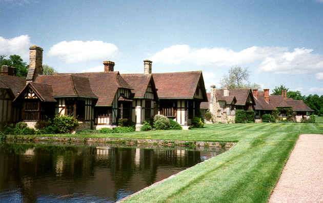 HEVER CASTLE: This fantasy village of Tudor houses was built by the latest owner, William Astor, for his guests.