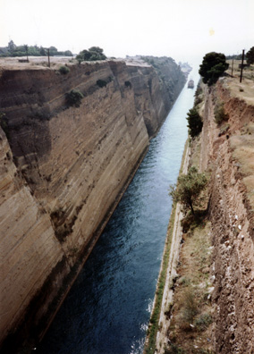 CORINTH: The Corinth canal, as we set out on our Peloponnesian bus tour May 22.