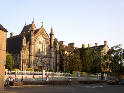 KILKENNY: St. Patrick's Church is even more recent, built 1896-9, architect S.F. Hynes. Both churches reflect the 19th-century revival of the Gothic style caused by the fascination with Romantic taste during that period.
