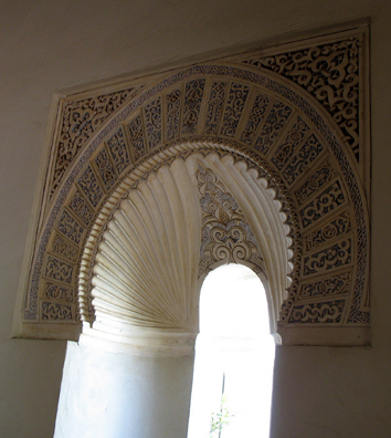 MALAGE: Interior arches.As you penetrate further, they become more ornate.
