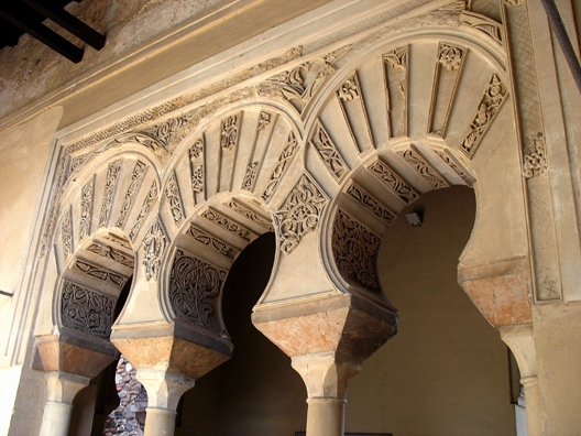 MALAGE: More arches, with some of their plaster decoration crumbled away.