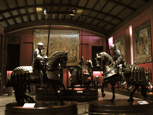MADRID: The armor in this collection is displayed much more dramatically than in most such museums, with fully armored knights on fully armored horses.