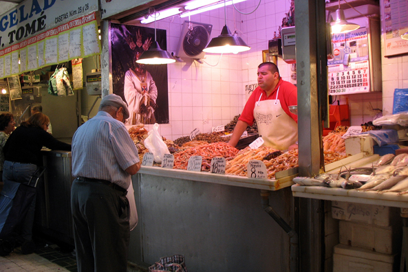 MALAGE: Many of the stalls were run by butchers., Mercado Central de Atarazanas.