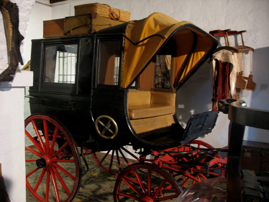 MALAGE: An old carriage, In Museo de artes y costumbres populares, M‡laga.