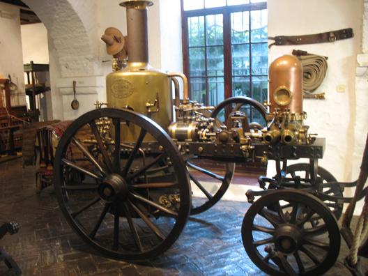 MALAGE: A steam engine. In Museo de artes y costumbres populares, M‡laga.