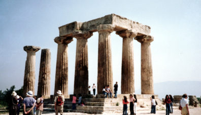 CORINTH: Another view of the temple.