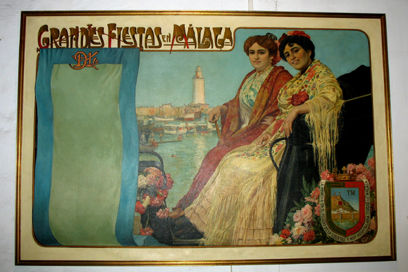 MALAGE: Another old travel poster. In Museo de artes y costumbres populares, M‡laga.