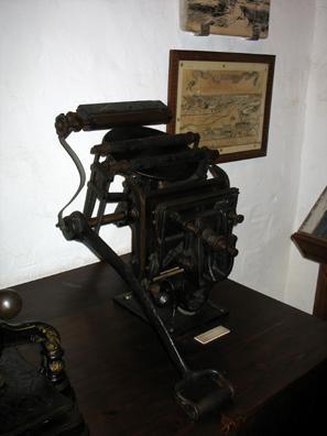 MALAGE: An old printing press. In Museo de artes y costumbres populares, M‡laga.