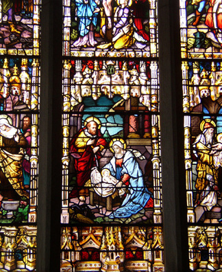 KILKENNY: A close up of the stained glass.