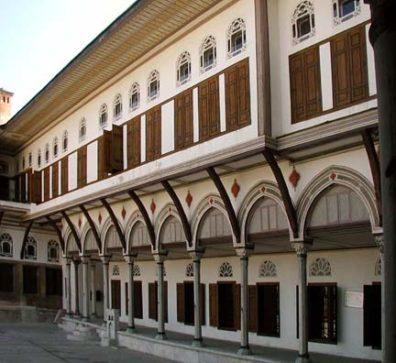 TOPKAPI PALACE: A courtyard entrance to the Harem.