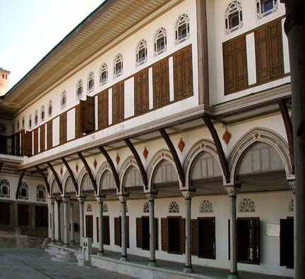 TOPKAPI PALACE: A courtyard entrance to the Harem.