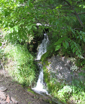 LAS ALPUJARRAS: Water runs through various channels in the town from the mountains above.