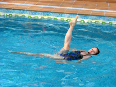 LAS ALPUJARRAS: Some of the water winds up in the pool of the lovely Hotel Finca los Llanos, where Paula showed off her water ballet skills.