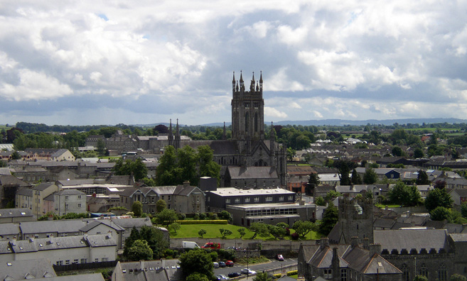 KILKENNY: View of St. Mary's from the top of St. Canice's tower.