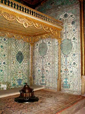 TOPKAPI PALACE: But most of the rooms are decorated in traditional Ottoman fashion, with walls lined with tiles using calligraphy and floral designs.