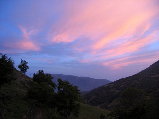 LAS ALPUJARRAS: On our final evening we spent a long time watching the sunset as we walked between Bubión and Capileira.